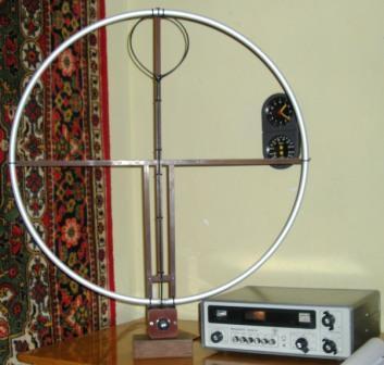 Magnetic loop antenna из обруча 16