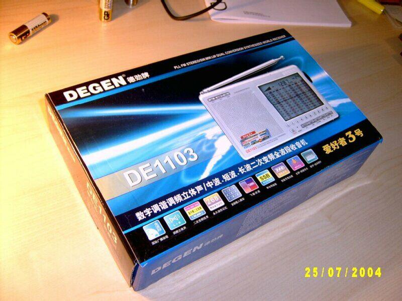DEGEN DE 1103 вполне компактный и легкий, с телескопической антенной и ремешком для...