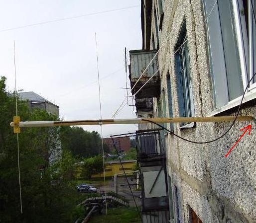 Установка антенны на балконе: из чего сделать мачту, как кре.