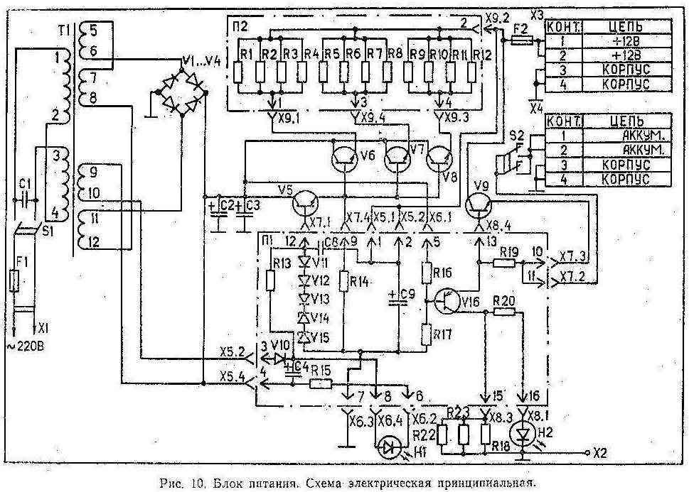 Схема сетевого блока питания от радиостанции лен