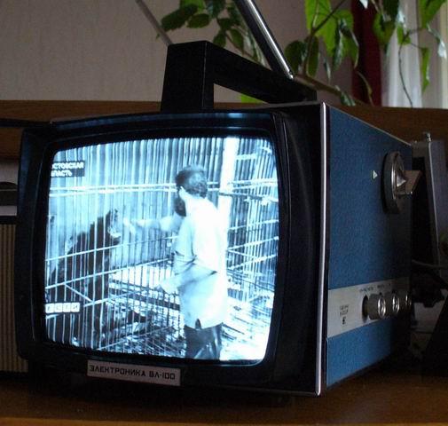 портативный телевизор.