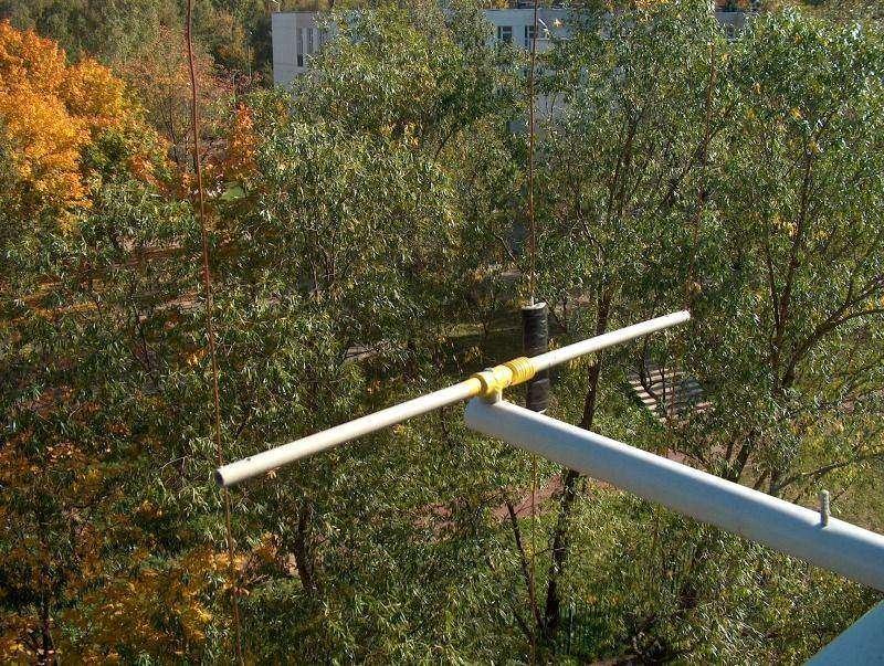 Балконная кв антенна.