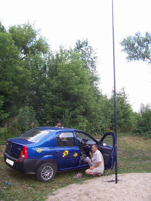мачта для антенн из удочки