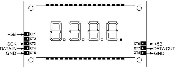 Управление модулем индикации