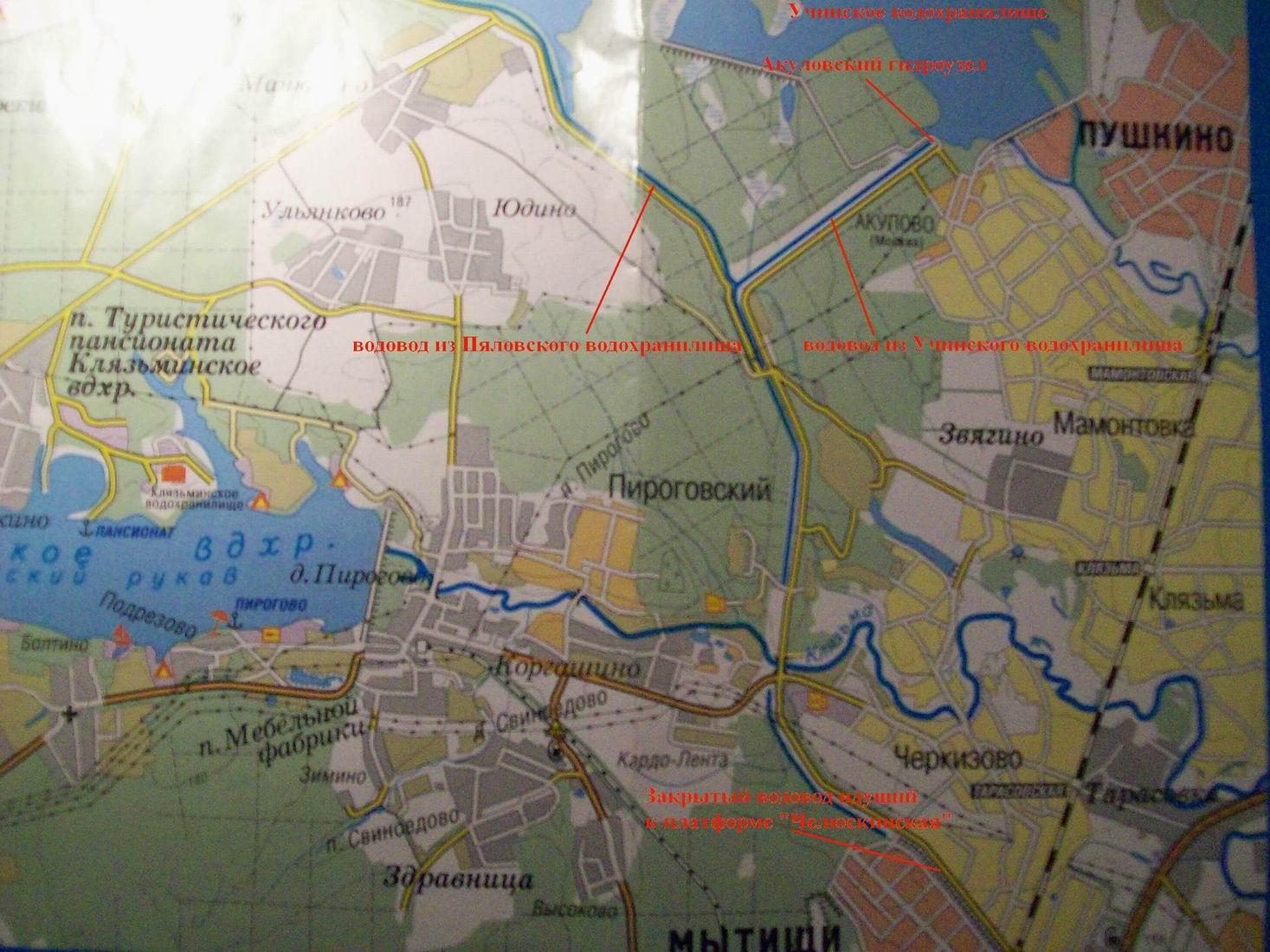 план схема реки клязьма