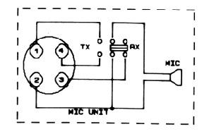 Схема тангетки рации мидланд