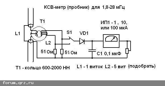 Да,эта схема для КВ КСВ-метра