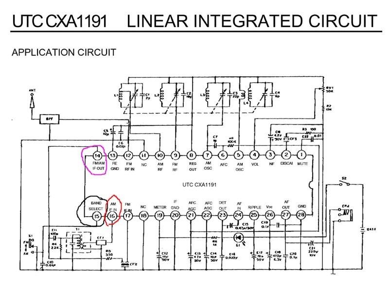 Приемник на cxa1691bm схема
