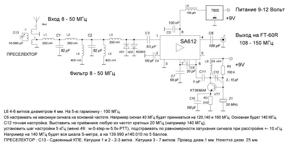100 МГц в гетеродин.