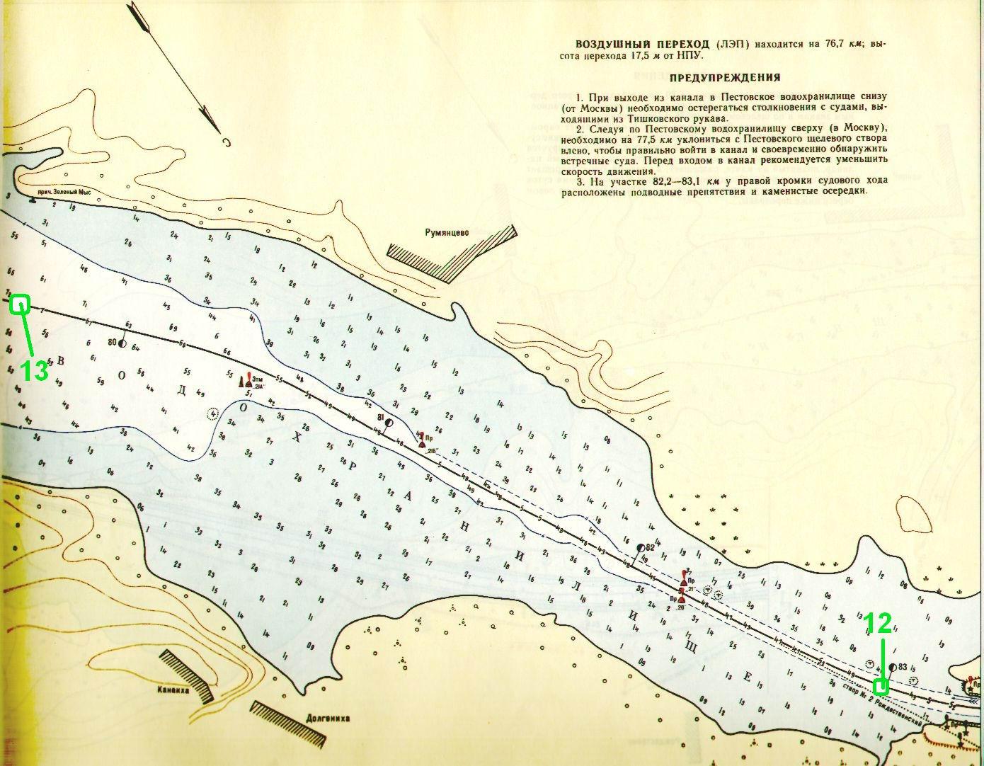 рыболовные места на канале им москвы