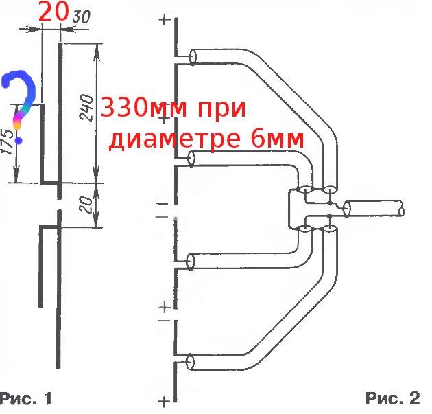 Коллинеарная антенна на 430 мгц