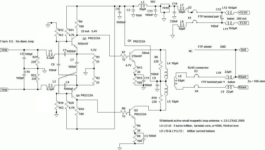 Схема платы антенны locus