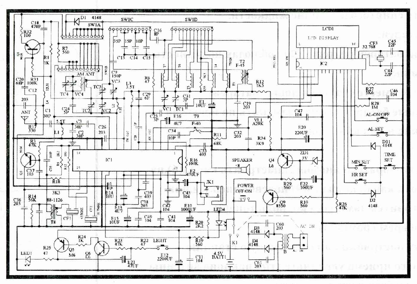 радио схема фм приемника на одной микросхеме