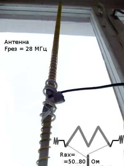 антенна штыревая из удочки