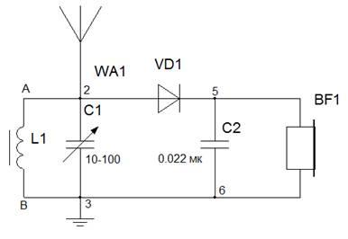 Схемы детекторных приёмников