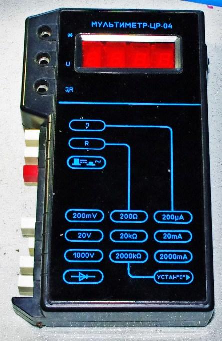 мультиметр цр-04 схема