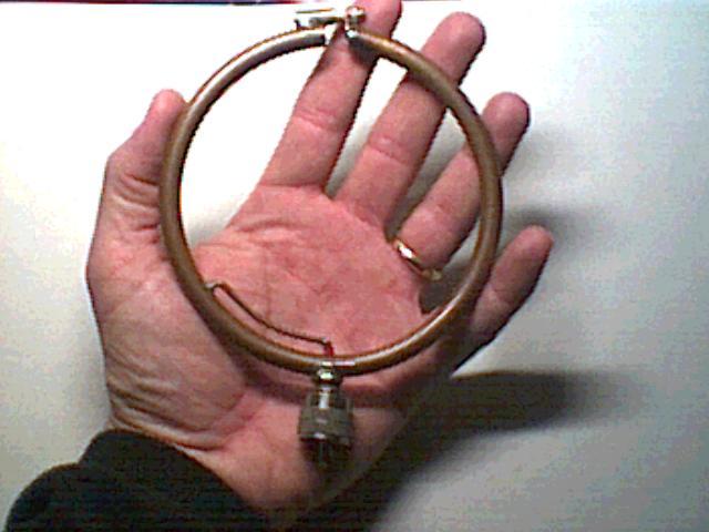 Magnetic loop antenna из обруча 3